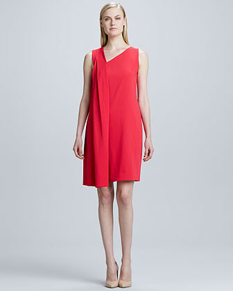 T Tahari Juna Asymmetric Draped Dress