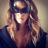 Phoebe Tonkin channelled Batgirl. Source: Instagram user phoebejtonkin