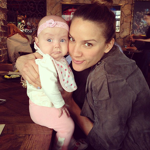 Rachael Finch practised her mothering skills with her adorable niece. Source: Instagram user rachael_finch