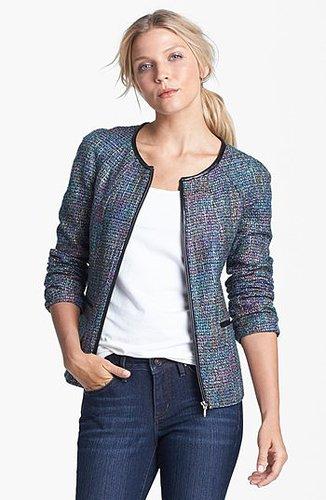 Amber Sun Zip Front Tweed Jacket | Nordstrom