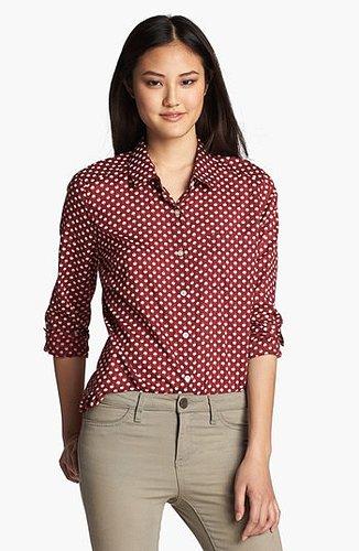 Halogen® Roll Sleeve Shirt (Regular & Petite) | Nordstrom