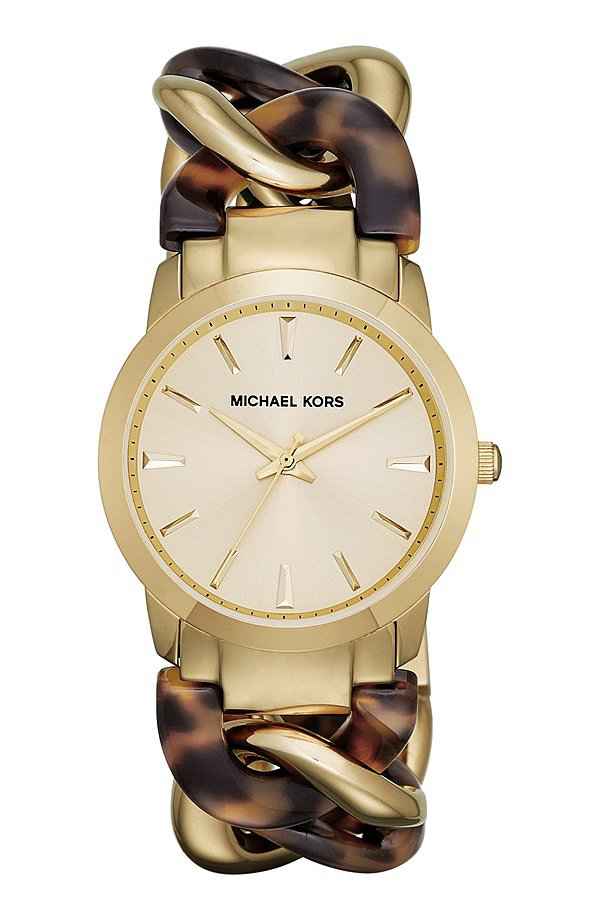 Love the feel of a chunky watch but want something more feminine than the menswear styles? Try Michael Michael Kors's linked option ($130, originally $195).