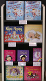Children's books related to the royal baby are on display in London's Waterstones bookshop.