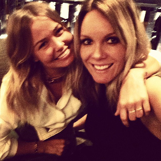 Lara Bingle caught up with designer Rebecca Vallance when she moved her holiday across to London. Source: Instagram user mslbingle
