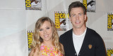 Scarlett Johansson Bonds With Her Superhero Boys in San Diego