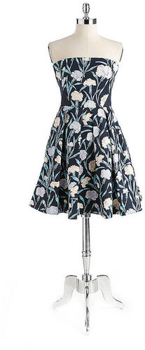 FRENCH CONNECTION Strapless Floral-Print Dress