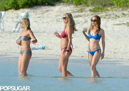 Cameron Diaz, Leslie Mann, and Kate Upton brought their bikinis out in the Bahamas in July.
