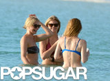 Cameron Diaz, Kate Upton, and Leslie Mann shared a laugh in the water.