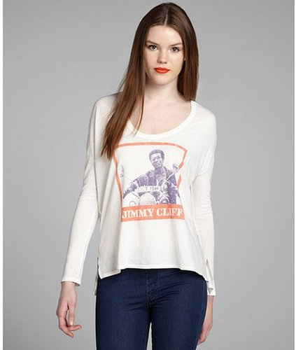 Chaser LA cream and orange cotton blend 'Jimmy Cliff' relaxed shirt