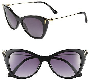 Elizabeth and James 'Fillmore' 52mm Cat's Eye Sunglasses Shiny Black One Size
