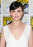 Usually one for dramatic eyeliner looks, Ginnifer Goodwin opted for barely there eye makeup on the press line for Once Upon a Time.