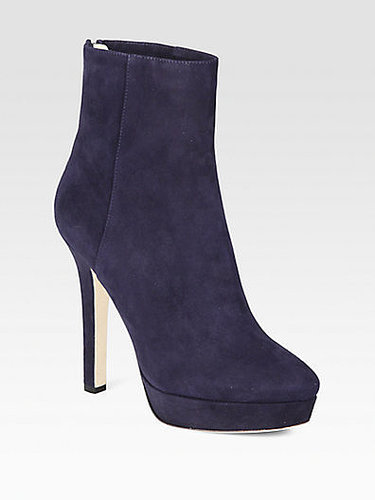 Jimmy Choo Magic Suede Platform Ankle Boots