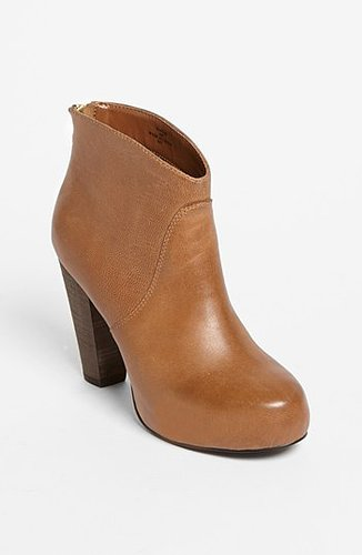 Steve Madden 'Naples' Bootie Womens Cognac Leather Size 5 M 5 M
