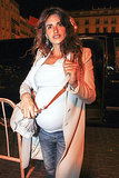 Penélope Cruz showed off her baby bump.