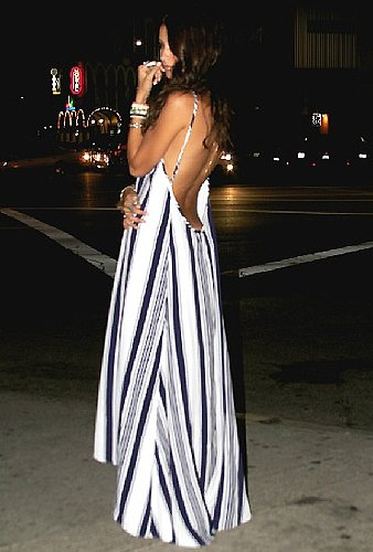 Flynn Skye Scoop Back Maxi Dress in Nautical Navy