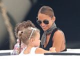Nicole Richie smiled with her kids, Harlow and Sparrow, while on vacation Monday in Saint Tropez.