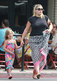 Busy Philipps took her daughter, Birdie, to lunch Saturday.