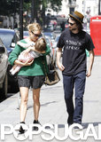 Sienna Miller and Tom Sturridge headed to lunch with their daughter, Marlowe, in London.