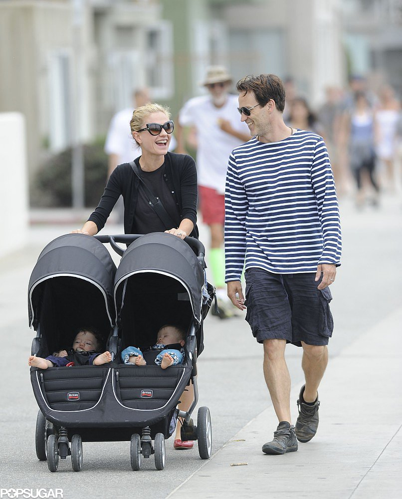 Anna Paquin and Stephen Moyer took their twins out in Santa Monica on Sunday.