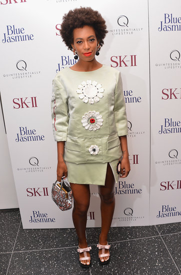 Solange Knowles attended the NYC premiere of Blue Jasmine on Monday.