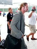 Brad Pitt Returns to the States Following a French Jaunt