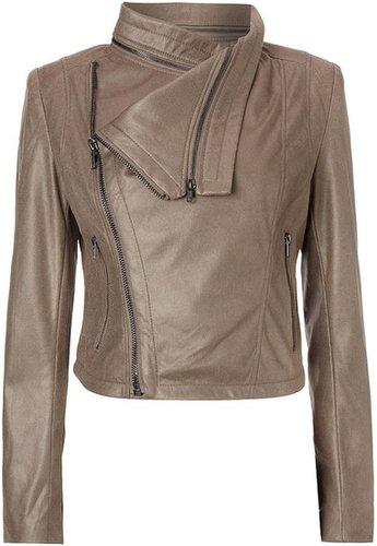 Label Lab Suedette drape jacket