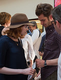 Emma Stone and Andrew Garfield stepped out for Woody Allen's concert in the South of France.