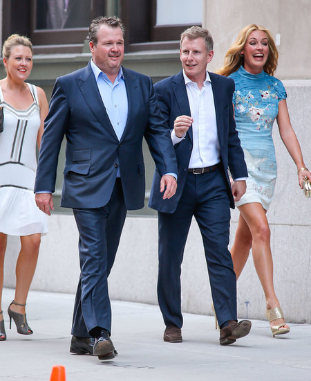 Eric Stonestreet, Cat Deeley, and her husband, Patrick Kielty, arrived at Jesse Tyler Ferguson's wedding.