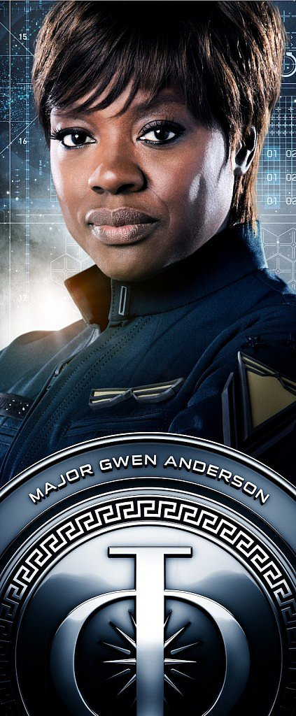 Viola Davis as Major Gwen Anderson.