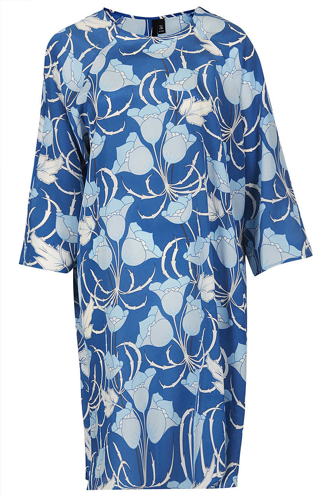 The vintage-inspired print of this Topshop frock ($220) is a bold choice, and the roomy fit will be forgiving for the first few weeks Kate is out and about.