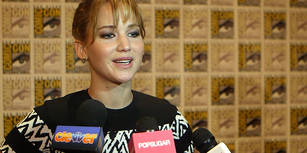 "Jennifer Lawrence Talks Catching Fire's ""Complicated"" Love Triangle at Comic-Con"