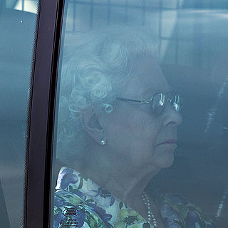 Queen Elizabeth at Buckingham Palace For Royal Baby