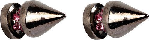 Mawi Silver-Toned Spike Stud Earrings