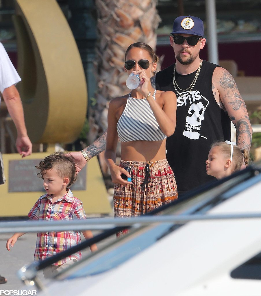 Nicole Richie and Joel Madden hung out with their kids, Sparrow and Harlow, in the South of France.