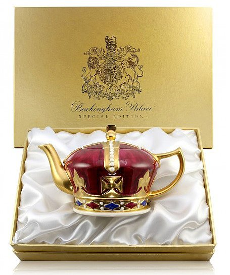 We can't think of anything more posh than serving tea from a Crown Teapot ($453) based on an early 20th century original.