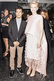 Cate Blanchett was more than pretty in pink wearing Balenciaga's gazar cape, embroidered dress, and heels while attending the MoMA screening of Blue Jasmine with Joseph Altuzarra.