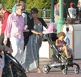 Pregnant Halle Berry took her daughter Nahla Aubry to Disneyland in July 2013.