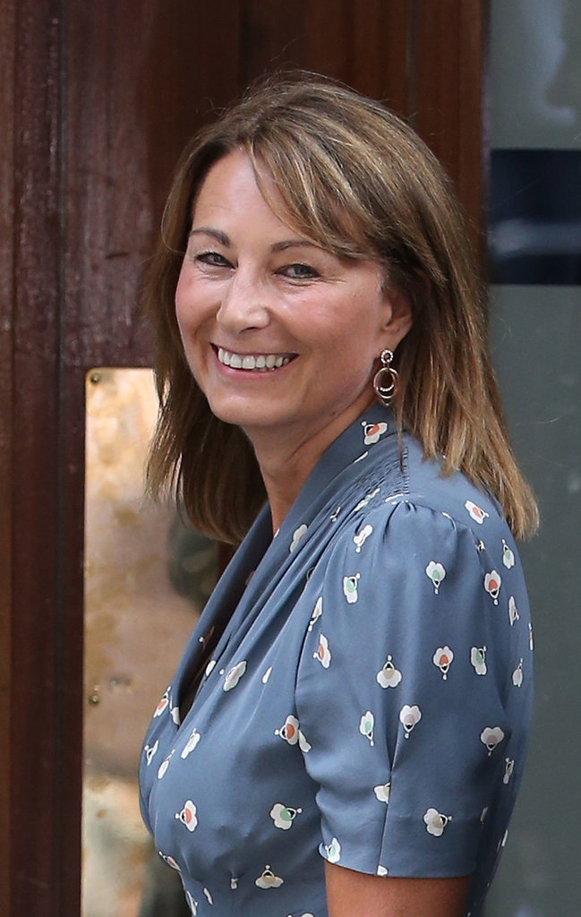 Carole Middleton smiled at the photographers.