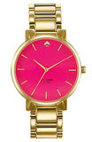 Ladies that really (really!) love pink can carry a bit of their favorite shade everywhere with Kate Spade New York's Gramercy watch ($150, originally $225).