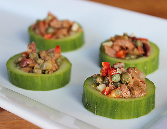 Savory: Cucumber Cups With Tapenade