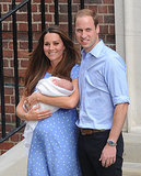 The Duke and Duchess of Cambridge smiled as they left the hospital with the royal baby.