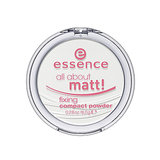 In lieu of blotting papers, try Essence All About Matt! Fixing Compact Powder ($4), a translucent powder that instantly takes away shine.