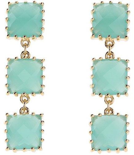 Kate Spade New York - Palm Pearls Linear Earrings (Mint) - Jewelry