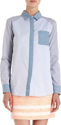 Jonathan Simkhai Colorblock Oxford Shirt