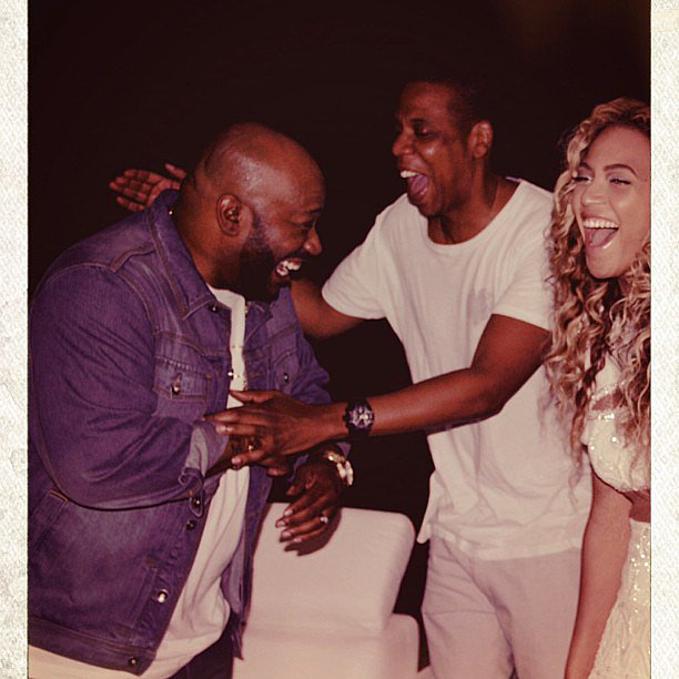 Beyoncé had a laugh with her husband, Jay Z, and Houston rapper Bun B after her Texas concert. Source: Instagram user beyonce