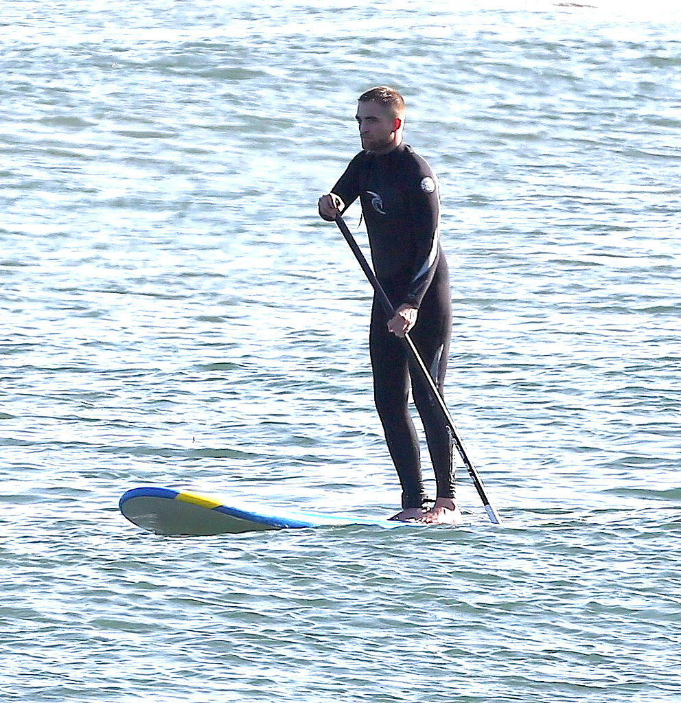Robert Pattinson won this year's bracket thanks to this photo showing off his bod as he did some paddle boarding in April 2013.