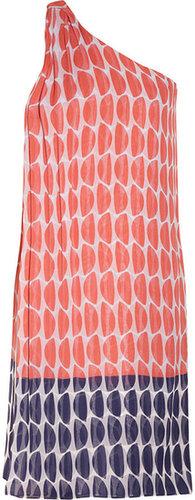 Diane von Furstenberg Liluye printed crinkled silk-chiffon dress