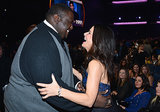 She shared a laugh with her The Blind Side costar, Quintin Aaron, at the People's Choice Awards in January 2013.