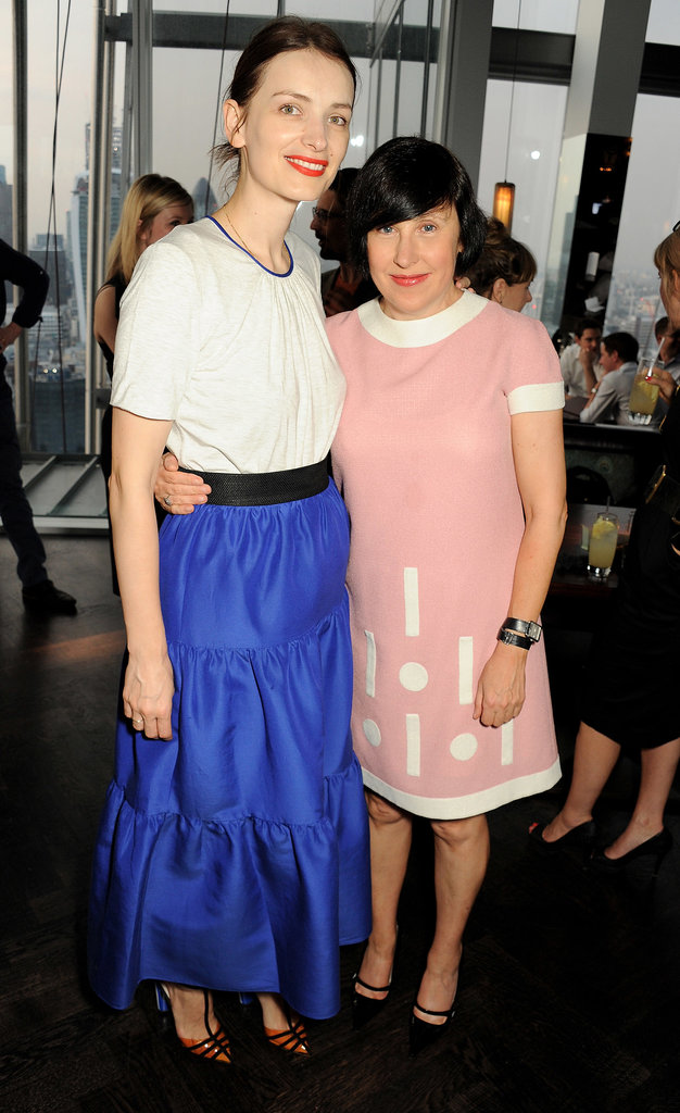 Roksanda Ilincic cozied up to Alice Rawsthorn while attending a dinner for the London Design Festival.