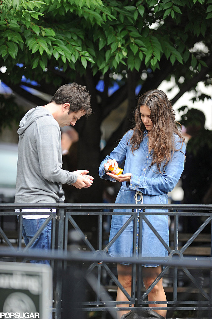 Katie Holmes and Luke Kirby filmed scenes in NYC together.